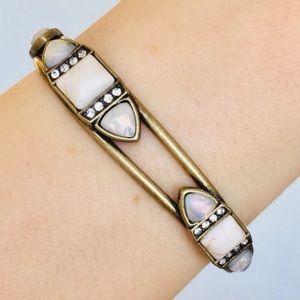🦄 Rare C+I Lunette White Turquoise Cuff Bracelet